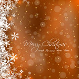 Cute Merry Christmas greeting card Stock Photography