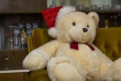 Cute Merry Christmas Puppy Bear Stock Photography