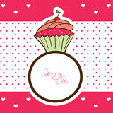 Cupcake ring and marry me message Royalty Free Stock Photos