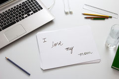 Cute message on Mothers Day Stock Images