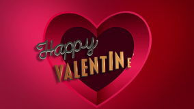 Cute message for valentines day. Digital animation of Cute message for valentines day stock video footage