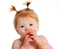 Cute messy baby Royalty Free Stock Photos