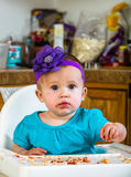 Cute Messy Baby Stock Photo