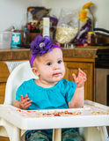 Cute Messy Baby Royalty Free Stock Image