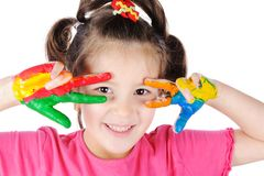 Cute messy girl Stock Images