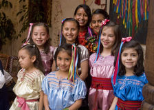 Cute Mexican Gils Royalty Free Stock Images