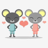 Cute mice in love Royalty Free Stock Photos