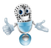 Cute microphone character. Giving a thumbs up Royalty Free Stock Photography
