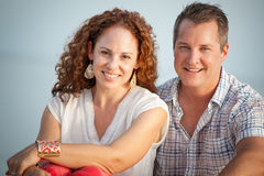 Cute Middle Aged Couple Close Up Portrait Stock Photography