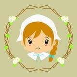 Cute Milkmaid Vector Stock Image
