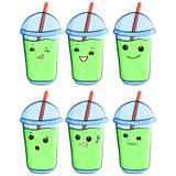 Cute milkshake vector. Ilustration eps10 Royalty Free Stock Photos