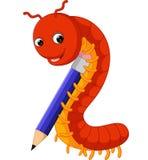 Cute millipede cartoon Stock Image