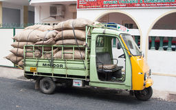 Cute mini truck. Loaded colorful truck. Kochi (Cochin), Kerala, India Royalty Free Stock Image