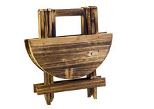 Cute miniature wooden table folded Stock Photo
