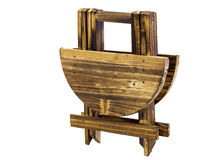 Cute miniature wooden table folded Royalty Free Stock Images