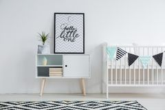 Cute minimalism in nursery stock photo