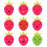 Cute minimalistic strawberry Royalty Free Stock Photo
