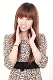 Cute model with smile Stock Images