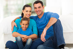 Cute modern family Royalty Free Stock Image