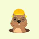 Cute mole . Cute happy smiling mole character Royalty Free Stock Images