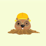 Cute mole . Royalty Free Stock Photography