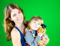 Cute mom and child Stock Photo