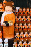 Cute monk dolls Royalty Free Stock Photo