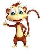 Cute Monkey cartoon character thumbs up Stock Photo