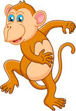 Cute monkey cartoon dancing Royalty Free Stock Images