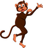 Cute monkey cartoon expression Royalty Free Stock Images
