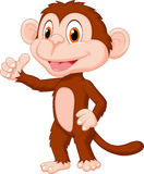 Cute monkey cartoon giving thumb up Stock Image
