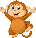 Cute monkey cartoon Stock Photography