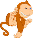 Cute monkey cartoon Stock Image
