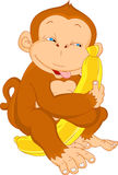 Cute monkey cartoon Royalty Free Stock Photos