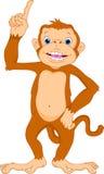Cute monkey cartoon. Illustration of cute monkey cartoon Royalty Free Stock Photo