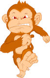 Cute monkey cartoon. Illustration of cute monkey cartoon Stock Image