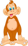 Cute monkey cartoon Stock Images