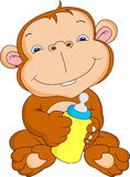 Cute monkey cartoon Stock Images
