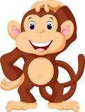 Cute monkey cartoon Royalty Free Stock Photos