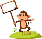 Cute monkey cartoon Royalty Free Stock Photography