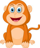 Cute monkey cartoon Royalty Free Stock Image