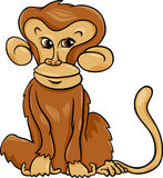 Cute monkey cartoon illustration. Cartoon Illustration of Cute Monkey Primate Animal Stock Photos