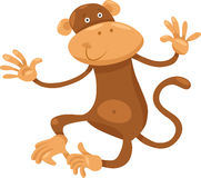 Cute monkey cartoon illustration. Cartoon Illustration of Cute Monkey Primate Animal Stock Image