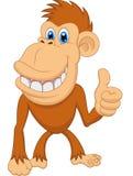 Cute monkey cartoon with thumb up. Illustration of Cute monkey cartoon with thumb up vector illustration