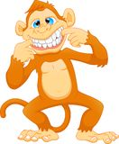 Cute monkey cartoon vector illustration