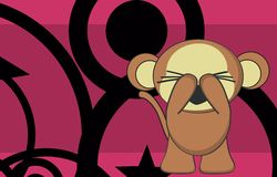 Cute monkey expression cartoon sticker3 Royalty Free Stock Image