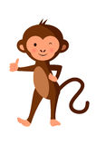 Cute monkey giving thumbs up Stock Photo