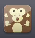 Cute monkey icon Royalty Free Stock Photos
