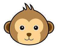 Cute Monkey Vector. Cute animal faces in  (One of 25 of them Stock Photos