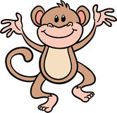 Cute monkey vector illustration. Adorable monkey or chimpanzee vector illustration Stock Images